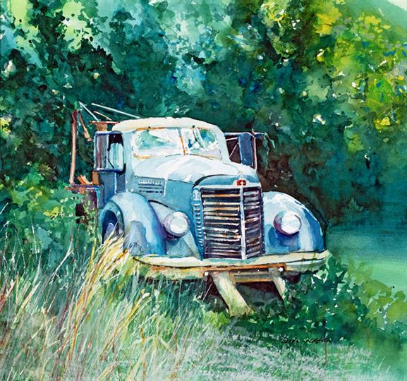 Watercolor by Linda Goldstein