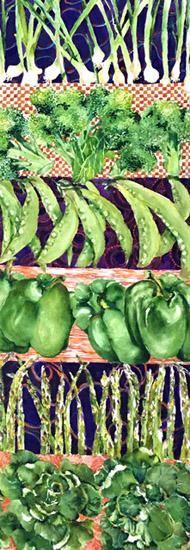 Vegetables Watercolor by Linda Goldstein